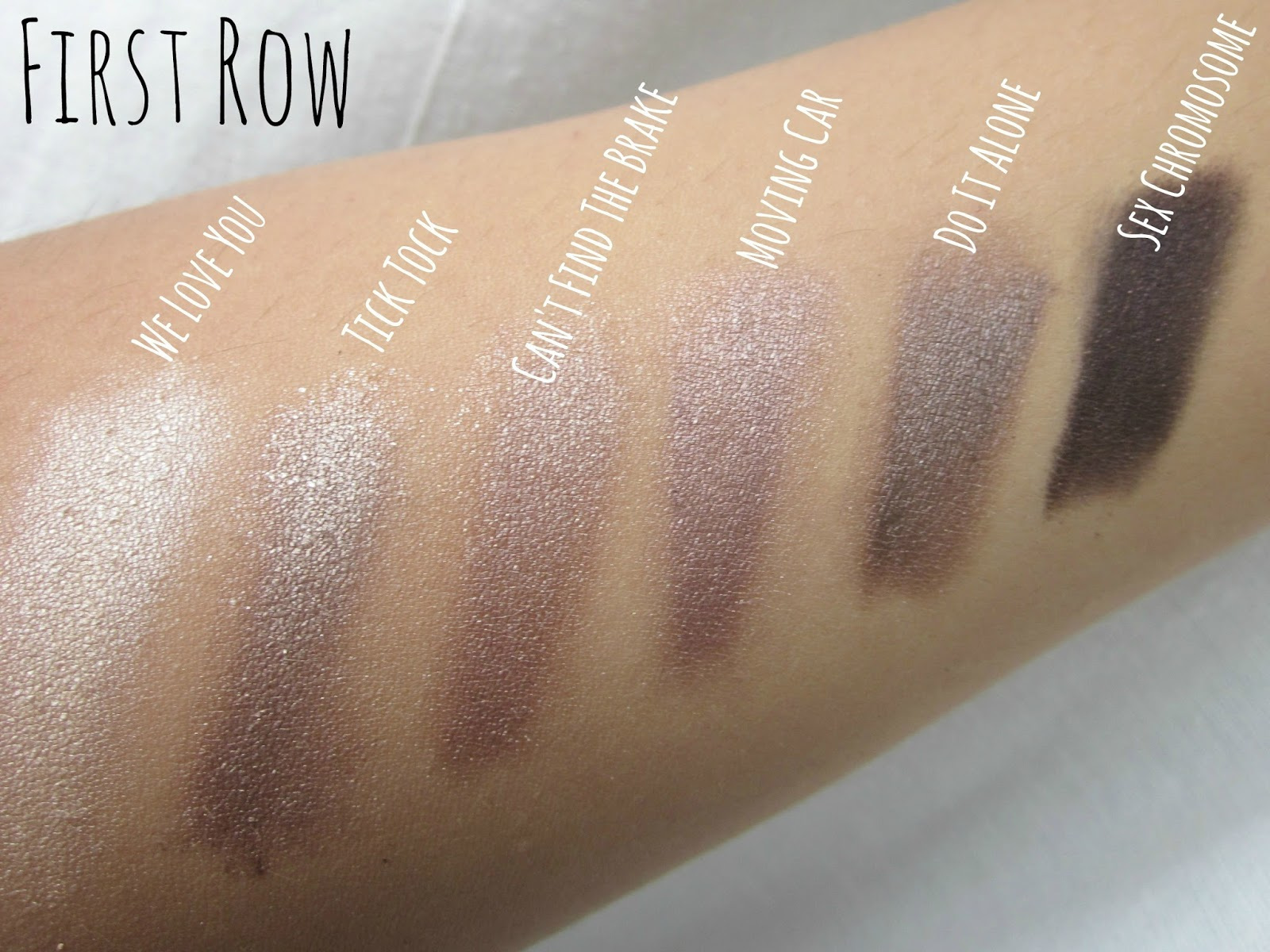 make up revolution what you waiting for palette swatch swatches