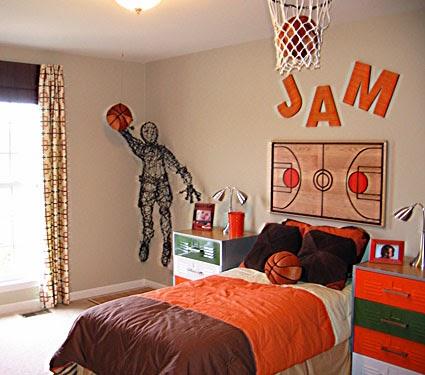 décoration chambre theme basket
