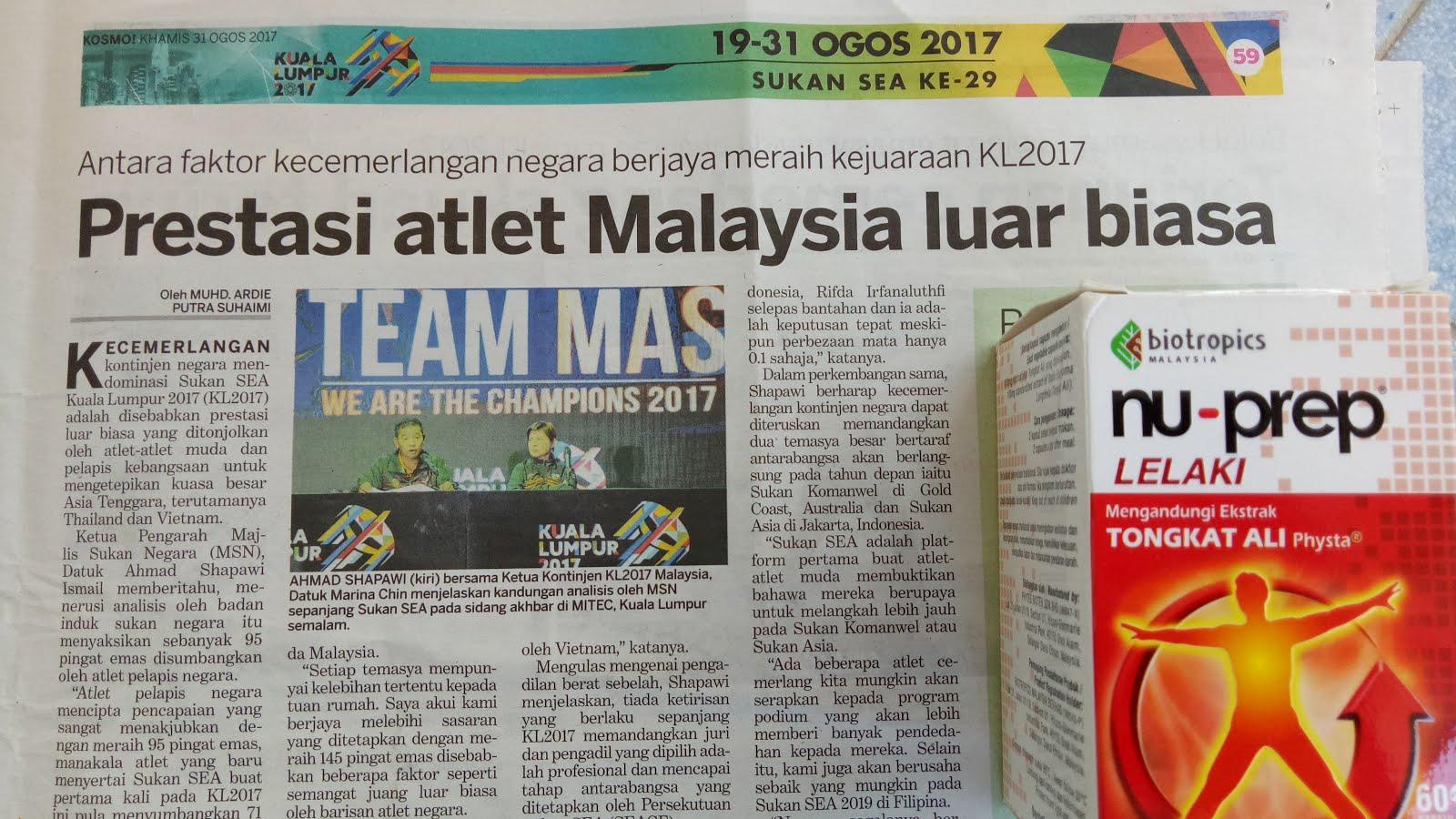 Nu-Prep MALAYSIA BOLEH 'Kita Juara' SEA GAMES 2017.