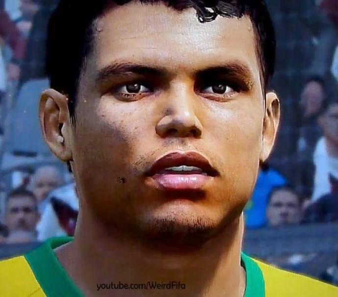 Faces jogadores brasileiros: Face Thiago Silva PES 2015