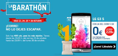 LG G3s con la Barathón de Yoigo del 23 de octubre de 2015