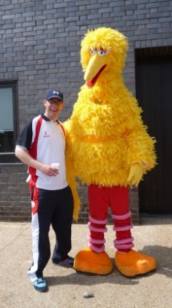 Richard Gottfried & Big Bird from Sesame Street in Hastings