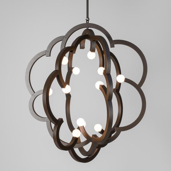lampara de madera colgante de diseño