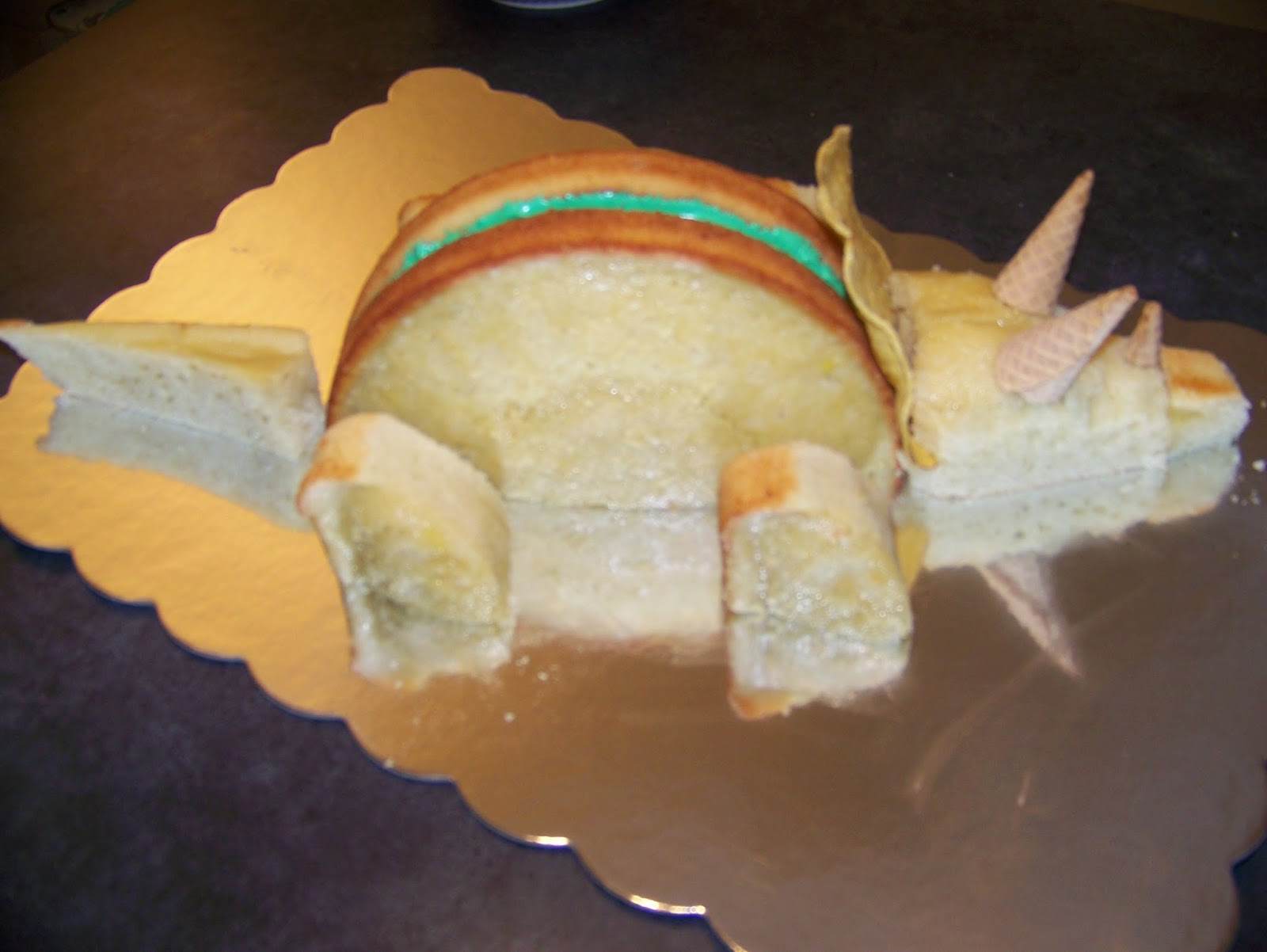 Our kitchen sweet kitchen triceratops cake for 3d dinosaur cake template