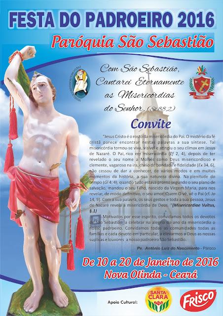 Cartaz da Festa de São Sebastião