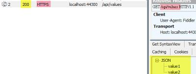 用戶端透過HTTPS接收JSON回應