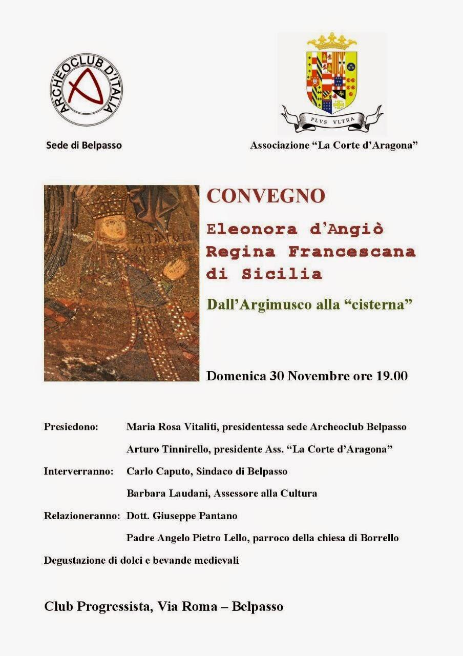 Convegno: Eleonora d'Angiò Regina Francescana di Sicilia