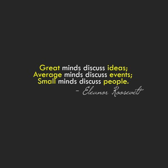Inspiring Quotes Eleanor Roosevelt: Life Inspiration Quotes: Great Minds Inspirational Quote