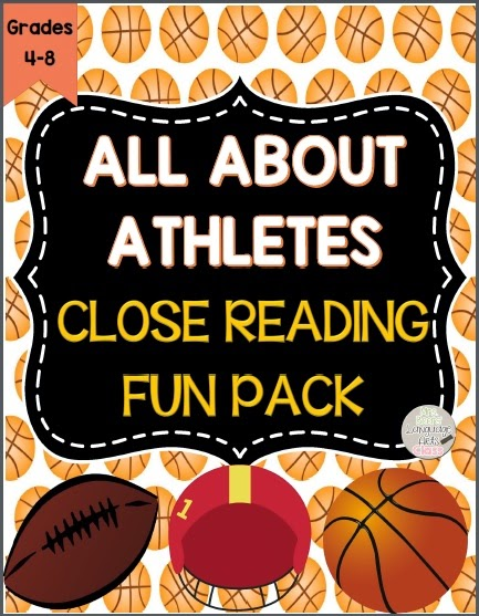 http://www.teacherspayteachers.com/Product/All-About-Athletes-Informational-Text-Close-Reading-Fun-Pack-for-Grades-4-8-1105587