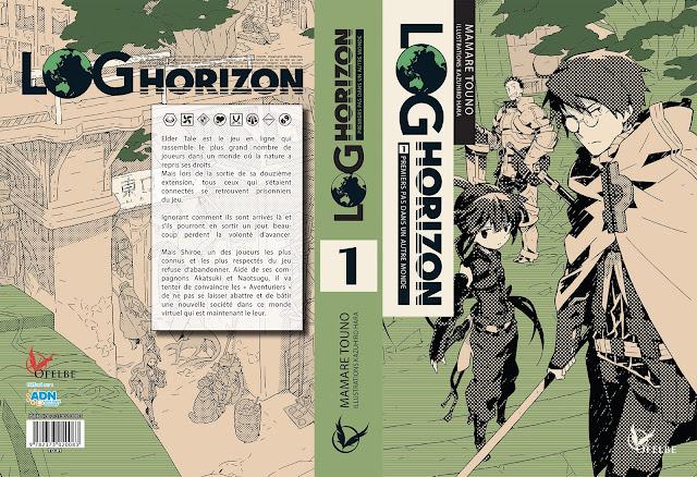 Actu Manga, Actu Roman, Log Horizon, Manga, Ofelbe, Roman,