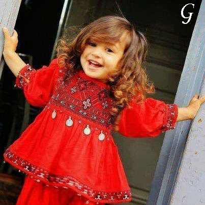 Smile-Baby-Girls-Red Frocks-Baby Images