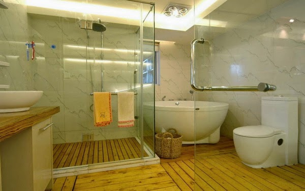 Wooden Bathroom Floor Design Ideas