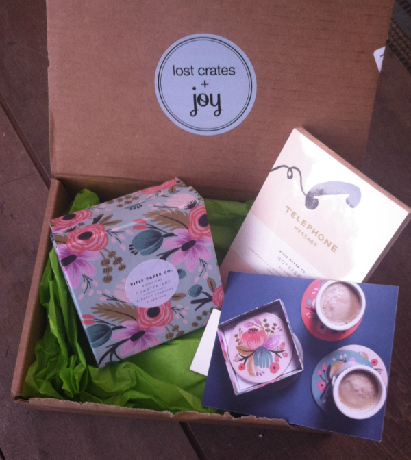 Joy The Baker For Lost Crates Monthly Subscription Box Review - August 2012