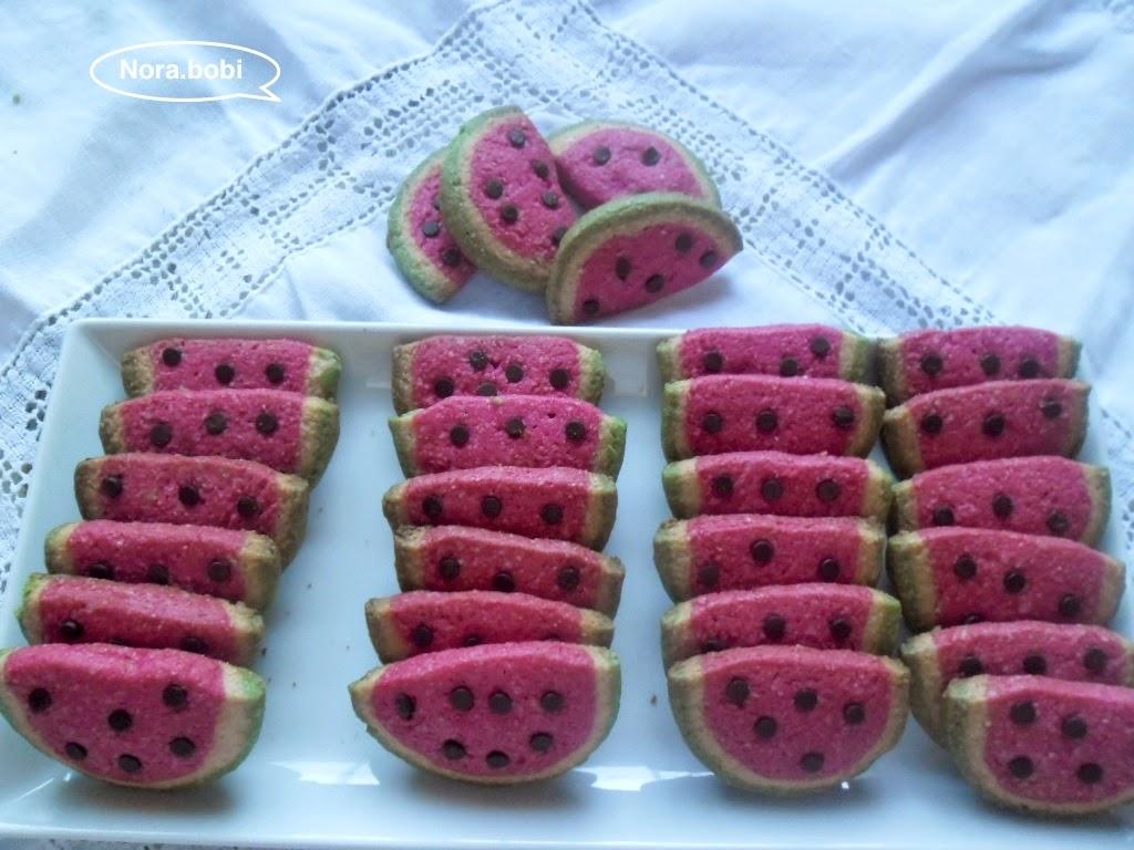 جديد حلويات الصابلي : طريقة تحضير صابلي على شكل دلاح أو البطيخ الأحمر بالصور