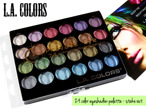 makeup tutorial blogger: Swatches: L.A. Colors Private Eye 24 ...