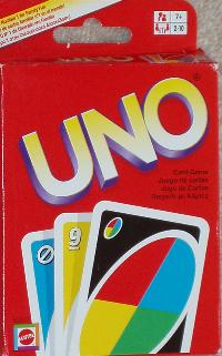UNO card game box.