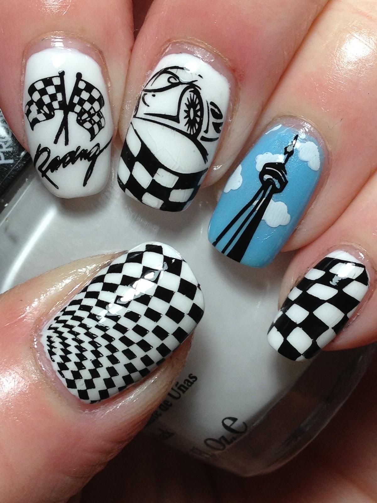 Indy 500 Nails...Plus New Plates! | Nail Art Ideas