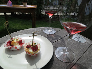 2012 Featherstone Rosé with Grilled Angel Food Cake