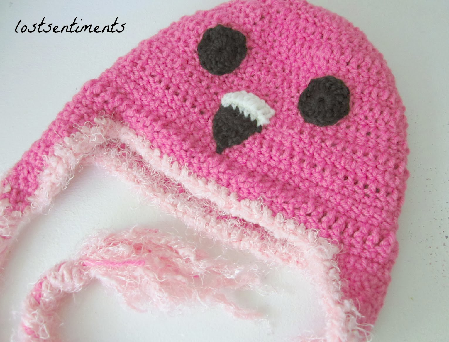 lostsentiments: Crocheted Adult Flamingo Hat - Free Crochet Pattern