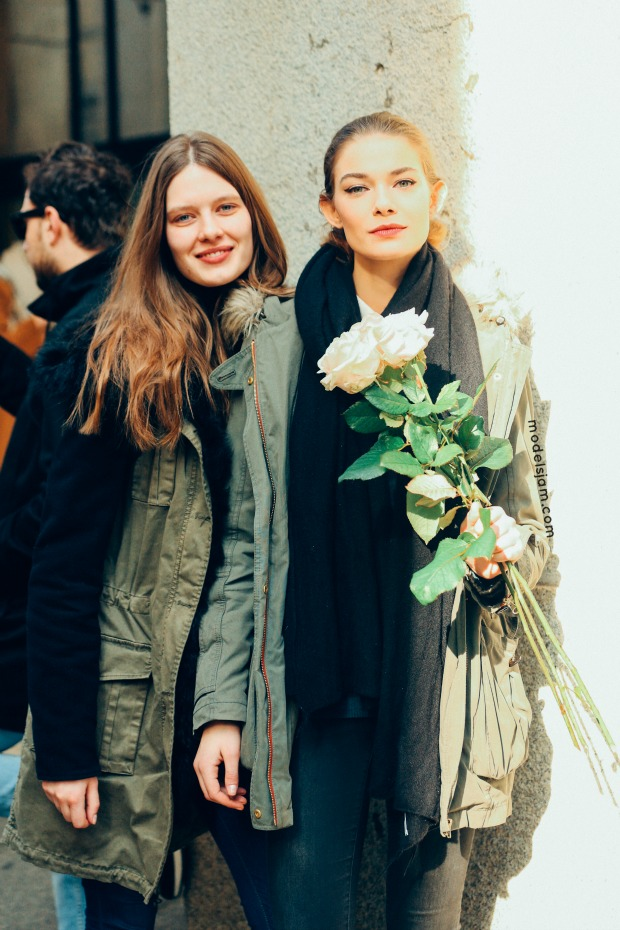 Anna Cholewa and Adrianna Zajdler, Milano, January 2016