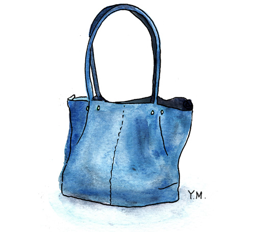 bleu bag by Yukié Matsushita