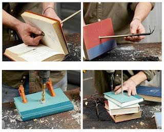 Como hacer una Lampara con Libros, Accesorios para Decorar