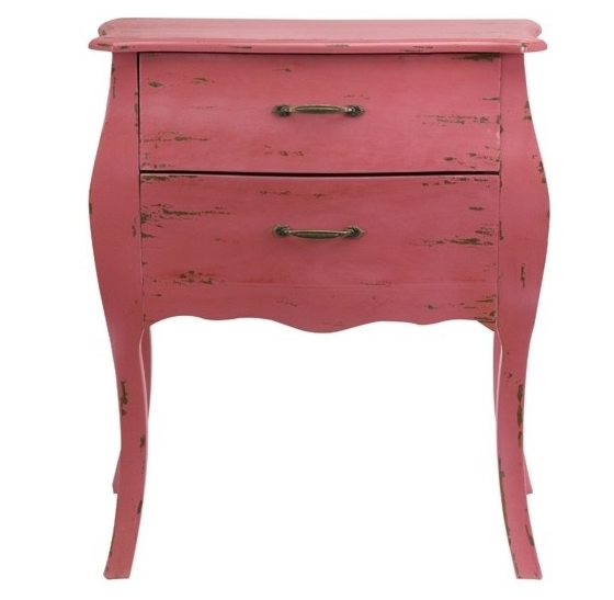 Bloom 2 Drawer Chest, lake house furniture, beach house furniture, painted furniture, pink furniture, girls room furniture