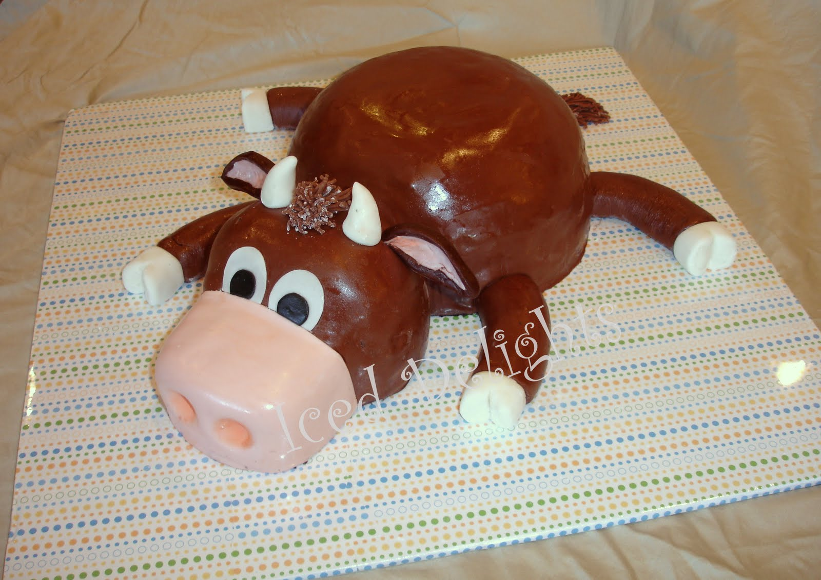 Brown Cow Cakes Birthday Ide Dimage De Gteau