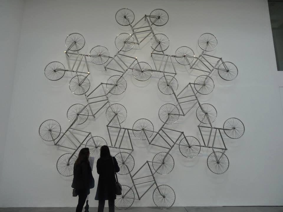 Ai Weiwei Exhibition at Lisson Gallery, London - Bikes on the Wall