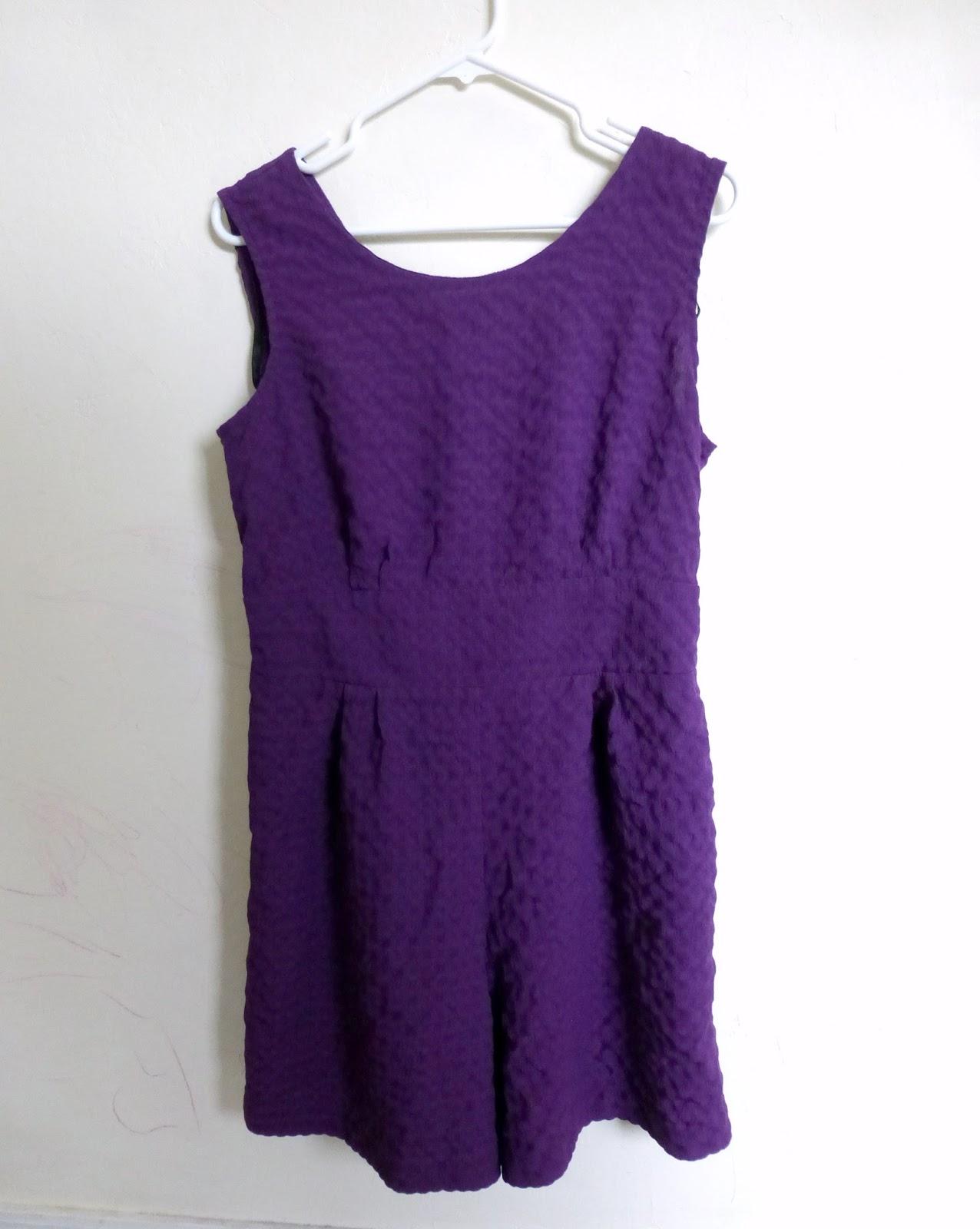 romper to purple dress refashion