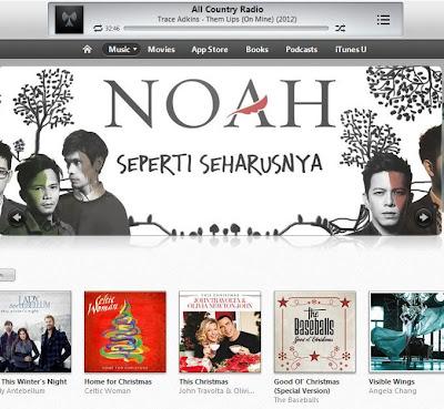 Tampilan iTunes store di iTunes11