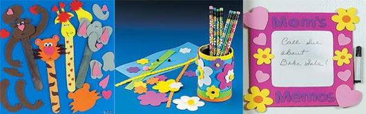 Sugestões de artesanatos em E.V.A para professores