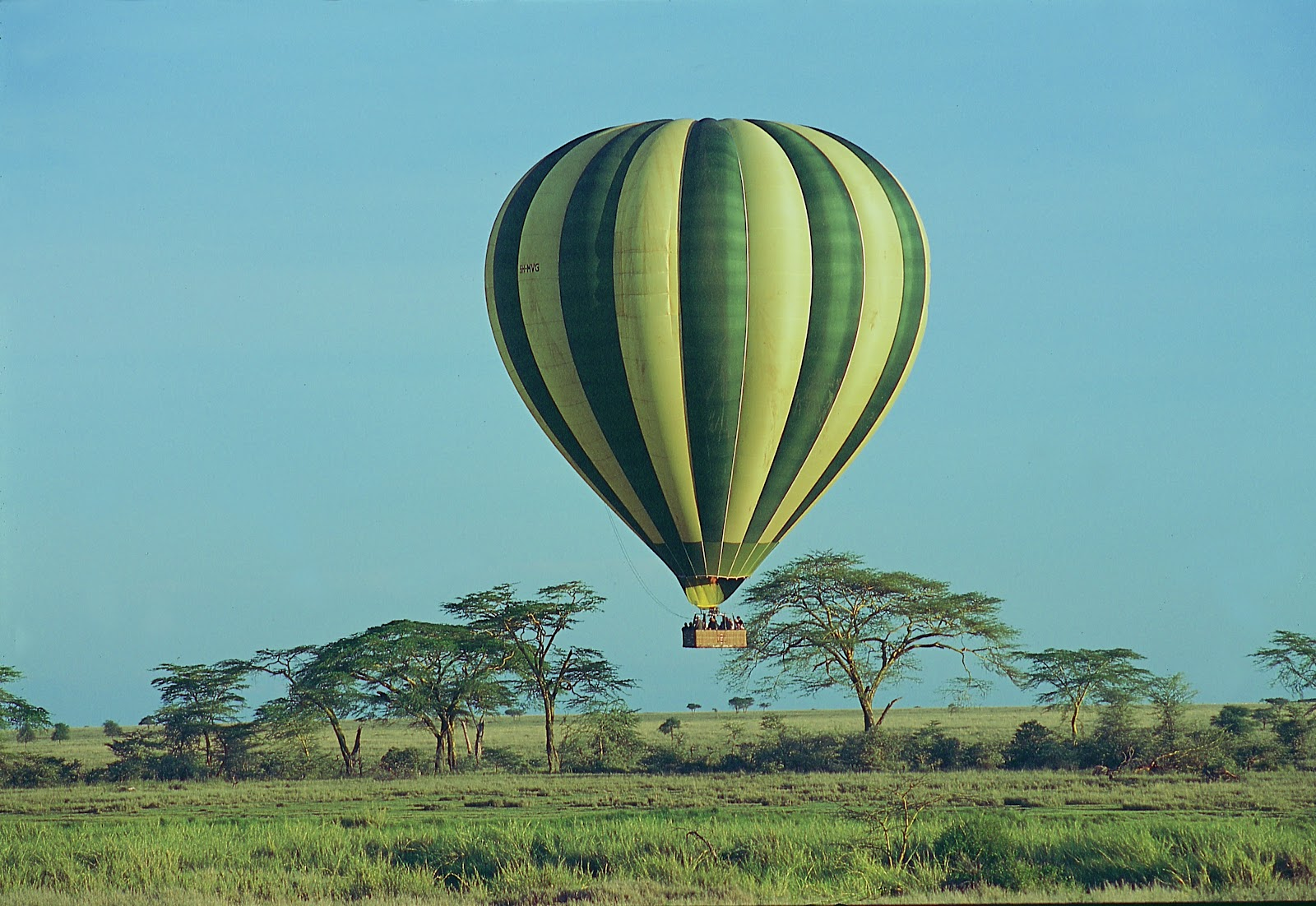 Enjoy a hot air balloon ride as you savor beautiful East Africa.
