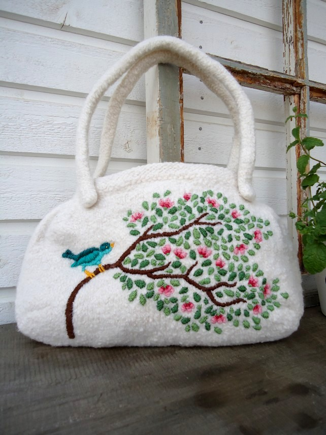 Knitted Mitten Patterns Free : Knit n Pearl: Magnolia Hand Bag