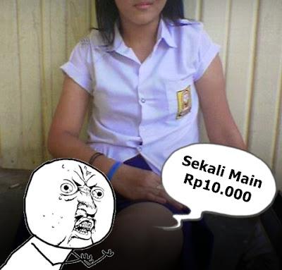 Tarif PSK Siswi SMP Sekali Main Rp10.000