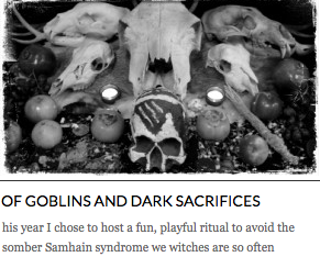 http://sarahannelawless.com/2013/10/25/of-goblins-and-dark-sacrifices/