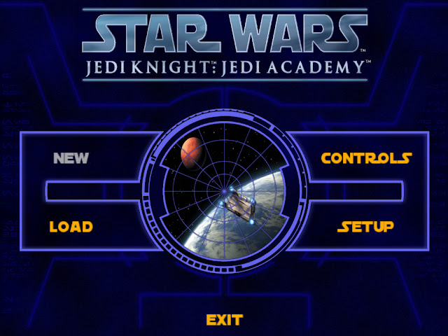 Star Wars Jedi Academy menu screen