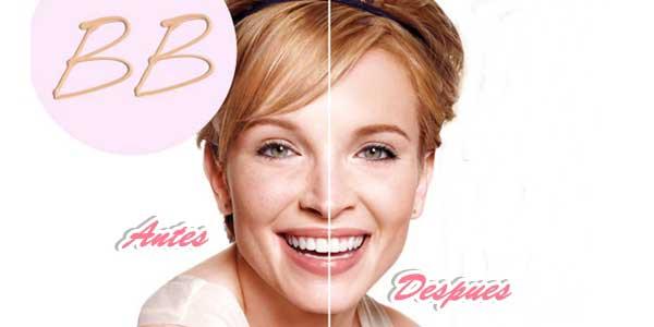 El antes y despues de la aplicacion de la bb cream
