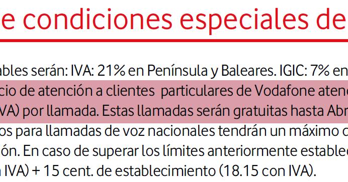 Catalania vodafone va a cobrar el servicio de atenci n al - Oficina atencion al cliente vodafone madrid ...