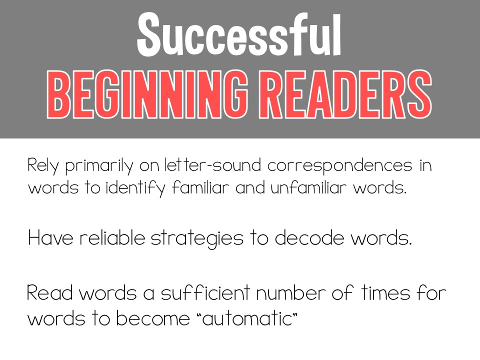 What Does it Take to be a Successful Beginning Reader? - Tunstall\'s ...