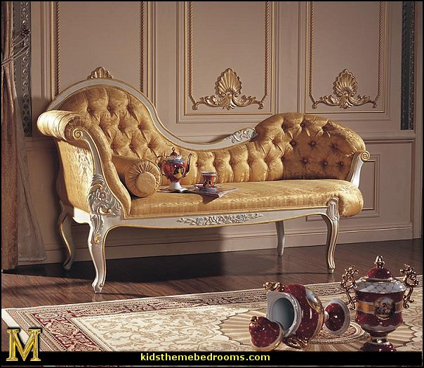 Decorating theme bedrooms maries manor queen for Baroque chaise lounge sofa