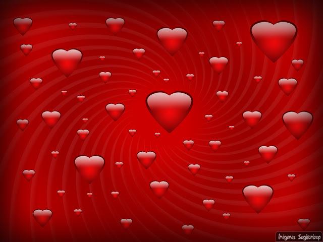 Wallpaper Corazones rojos