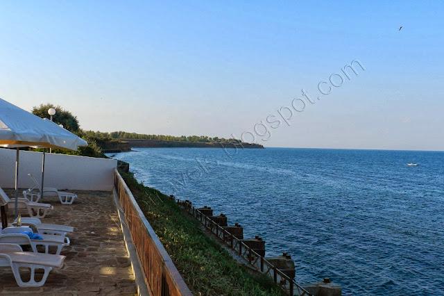 View from Yanitza's swimming pool terrace