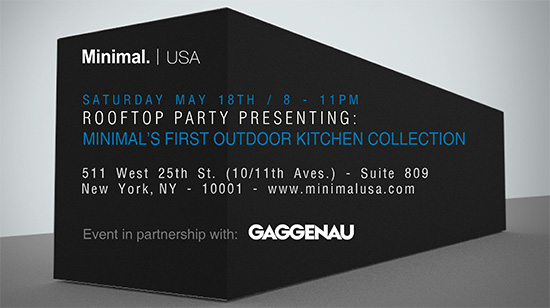 Minimal USA 2013 ICFF Party Invite