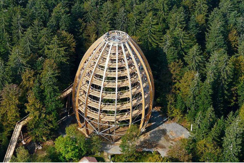 World largest tree top house – germany