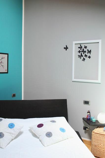 Vivere a piedi nudi living barefoot sfumature di grigio e soluzione decor diy per la camera da - Parete grigia camera da letto ...