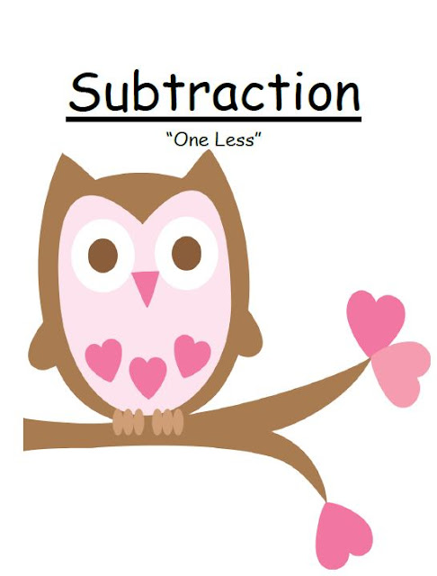 Free Valentines Subtraction ONE LESS CONCEPT Center Game at Fern Smith's Freebie Friday!