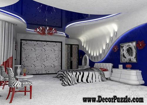 stretch ceiling, stretch ceilings, pvc ceiling, blue stretch ceiling for bedroom
