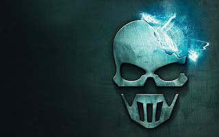 Tom Clancy's Hhost Recon Skull Logo HD Desktop Wallpaper