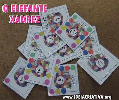 O Elefante Xadrez Flash Cards Número e Quantidade